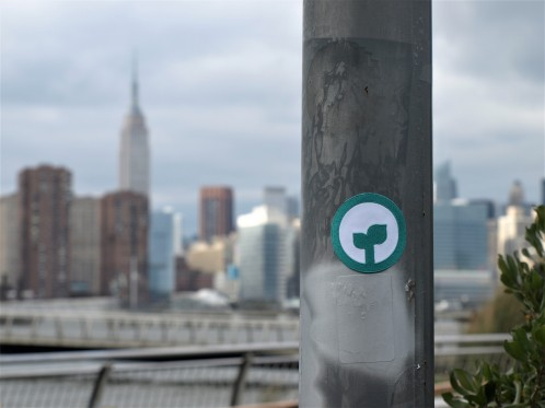 Sprout Up NYC iron-on patch